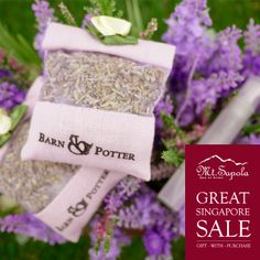 Have you started on your GSS shopping? Great Singapore Sale is going on now in all Mt. Sapola Boutiques! Receive a complimentary Lavender Potpourri + Scent Spray with purchases above $100 in Mt. Sapola Boutiques today!