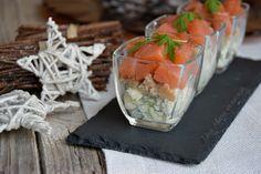 Bicchierini al salmone, rucola e robiola