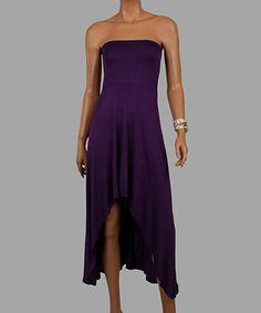 Look what I found on #zulily! Purple Strapless Hi-Low Dress - Women #zulilyfinds