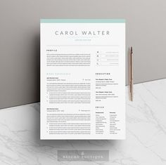 5 page Resume Template and Cover Letter par TheResumeBoutique