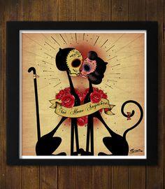 Cats in love   Not Alone Anymore  Valentine's Day por Ganbatte