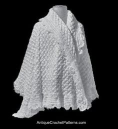 Vintage Crochet Shawl originally published in 1915 in Woolcraft: A Practical Guide to Knitting & Crochet