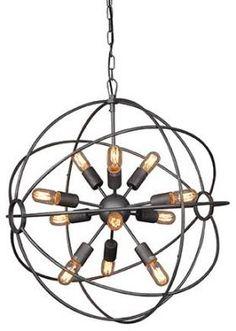 Meuble Lustre Spoutnik - 12 lampes - Mobilier Lampes, lustres, appliques, ..... Signature