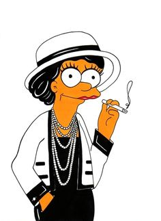 Coco Chanel Simpsonized