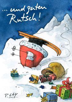 "Peter Gaymann Postkarte ""..und guten Rutsch!"""