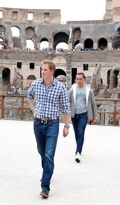Prince Harry visits Rome ancient Colosseum on May 19 2014 in Rome... News Photo 492289047