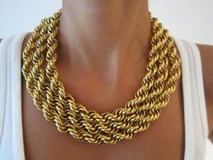 Braided Gold Chain Necklace