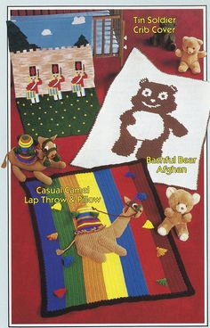Childrens Afghans Annie's Attic Crochet Pattern Booklet