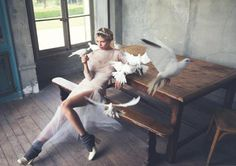 Hana Jirickova by David Bellemere for Porter Magazine