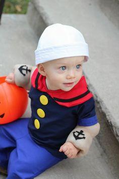 Popeye the Sailor Man Costume - handmade