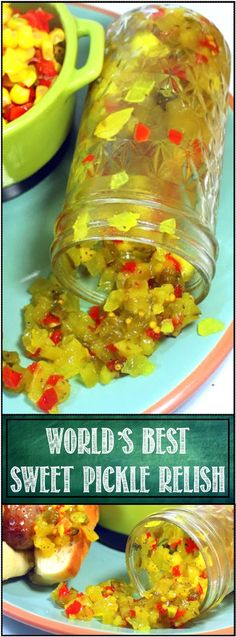 Inspired By eRecipeCards: WORLD's BEST Sweet Pickle Relish! - 52 Small Batch Canning Ideas