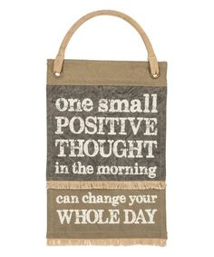 'One Small Positive Thought' Canvas Banner Positive Words, Positive Thoughts, Fancy Writing, Canvas Wall Decor, Dream Life, Banner, Positivity, Primitives, Organization Ideas