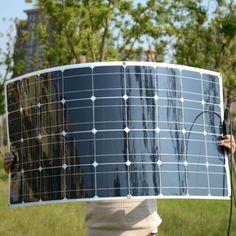 Mono-20V-100W-Flexible-Solar-Panel-For-Motorhome-Boats-Roof-12V-Battery-Charger #solarpanels,solarenergy,solarpower,solargenerator,solarpanelkits,solarwaterheater,solarshingles,solarcell,solarpowersystem,solarpanelinstallation,solarsolutions Solar Panel Kits, Solar Energy Panels, Best Solar Panels, Landscape Arquitecture, Solar Roof Tiles, Solar Projects, Solar Charger, Solar Energy System, Alternative Energy