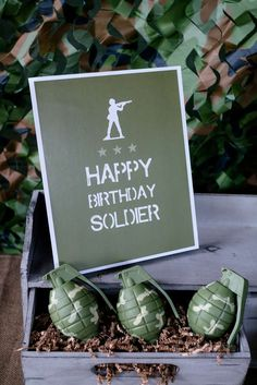 Awesome army military birthday party! See more party ideas at CatchMyParty.com!