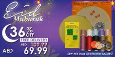 SEW-PER Deal Accessories Pack #Eid #mubarak #offer #deals #discount #sale #promo #sewing #stitching #craft #accessories #bundle #pack #needle #stitchery #spool #button #fancy