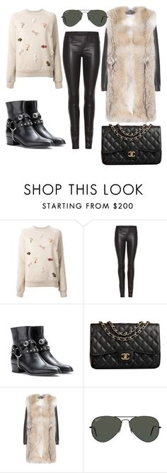 """""""Kendall-Jenner-style"""" by kendall-jenner-style ❤ liked on Polyvore featuring STELLA McCARTNEY, Helmut Lang, Yves Saint Laurent, Chanel and Ray-Ban"""
