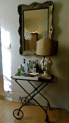 bar cart - photo Valorie Hart