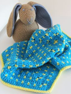 Crochet Security Blanket by madebylulupie on Etsy