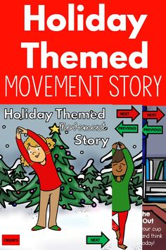 Have fun with movement over the Christmas season with this holiday themed movement story! Read the story and move. This can be used digitally in PowerPoint, Google Slides or a clickable PDF. You also have the ability to print it. It is the perfect addition to a classroom, physical therapy, occupational therapy, physical education and beyond. It works great for in person and distance learners!