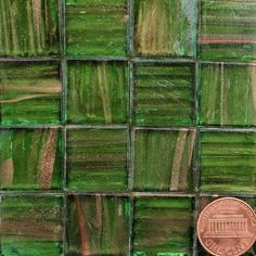 Aventurine Metallic Glass Mosaic Tiles 3/4 Inch