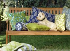 Love these Outdoor All Weather Throw Pillows -  Frontgate