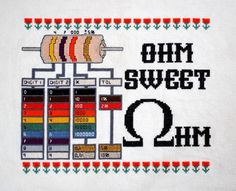 I guess I know what I'll be making over Thanksgiving break. Cross-Stitched Resistor Reference.
