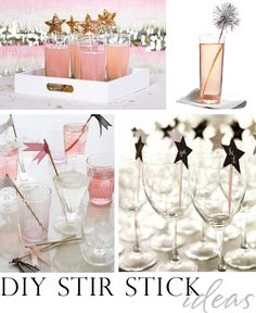 #DIY #NewYears stir stick ideas -- to dress up your drinks! Compiled by @Kim {The Celebration Shoppe}