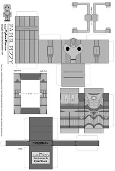 doctor who paper crafts | Paper Pezzy- Cyberman 'S6' by CyberDrone