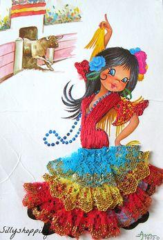 Vintage Bigeyed Girl Souvenir Postcard | by Asun | Sillyshopping | Flickr