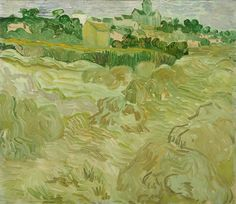 Vincent van Gogh Wheat Fields with Auvers in the Background painting, oil on canvas & frame; Vincent van Gogh Wheat Fields with Auvers in the Background is shipped worldwide, 60 days money back guarantee. Vincent Van Gogh, Van Gogh Landscapes, Arte Van Gogh, Image Hd, Van Gogh Paintings, Impressionist Artists, Wheat Fields, Art Van, Philadelphia Museum Of Art