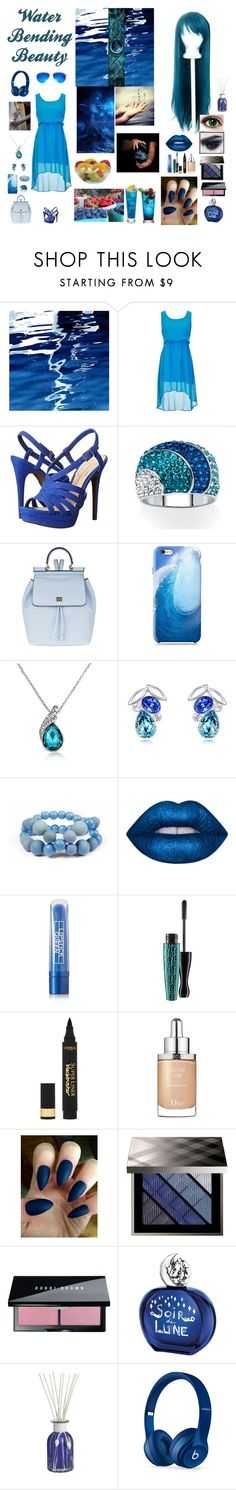 """""""Water Bending Beauty"""" by hetalia2013 ❤ liked on Polyvore featuring Art Addiction, Jessica Simpson, Palm Beach Jewelry, Dolce&Gabbana, Nexus, Hring eftir hring, Lime Crime, Lipstick Queen, MAC Cosmetics and L'Oréal Paris"""