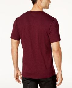 Inc International Concepts Men's Split-Neck Eagle T-Shirt, Created for Macy's - Red XXL