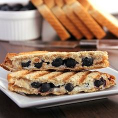 Blueberry pie panini -- the iconic dessert in sandwich form!