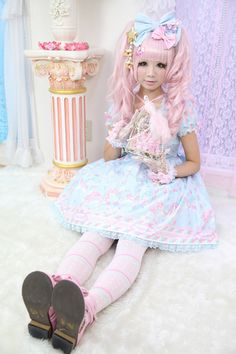 Super Cute Sweet Lolita  #sweet #cute #kawaii #japan #harajuku #angelicpretty #sweetlolita #pastel