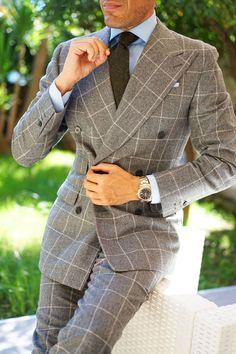 Mens Tailored Suits, Mens Suits, Suit Combinations, Herren Style, Designer Suits For Men, Slim Tie, Wool Tie, Classic Suit, Skinny Ties