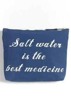 'Salt Water' Cover-Up & Bikini Bag http://rstyle.me/n/ejyvhnyg6