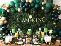 First Birthday Party Themes, Safari Birthday Party, Baby Boy 1st Birthday, Boy Birthday Parties, Lion King Party, Lion King Birthday, Safari Party Decorations, Lion King Baby Shower, Le Roi Lion