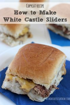 You can save time and money by making your own copycat White Castle Sliders at home. So easy to make and so delicious!