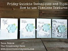 Friday Quickie: How to use Timeless Textures Stamp Set from Stampin Up - YouTube