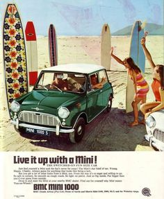 Advert for the Mini 1000 S - unique to South Africa