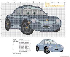 Sally Carrera Disney Cars patrón punto de cruz