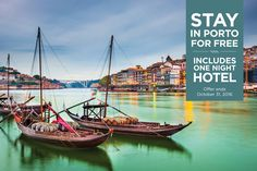 Fly to Portugal for $795 per person plus receive a free pre-cruise stay in Porto at the Hotel Teatro.  Located in the heart of the historic center of Porto, Hotel Teatro is the perfect place to begin your 8-day Secrets of the Douro river cruise.  Applicable sailings: June 24; August 5 & September 2, 2017  For a limited time we are also offering a reduced deposit of just $250 per person.   Offer ends October 31st.