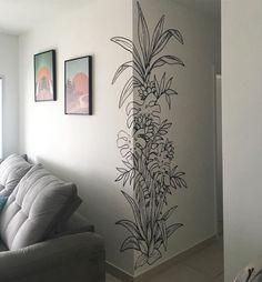Mural by Sara Dias at Private Residence Wall Decor Design, Wall Art Designs, Diy Wall Decor, Paint Designs, Diy Bedroom Decor, Home Decor, Wall Painting Decor, Mural Wall Art, Painting Wallpaper
