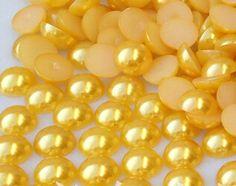6 mm 18 cor, Abs pérolas de imitação metade rodada, Pérolas para artesanato, Telefone / beleza / diy em Adornos de Jóias no AliExpress.com | Alibaba Group