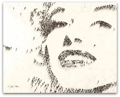 Art Symphony: Iconic Portraits Formed by Clusters of Tiny People by Craig Alan