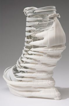 3D printed shoes - conceptual fashion; experimental footwear design; wearable…