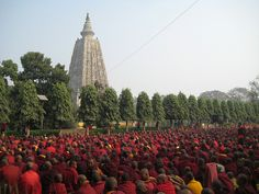The Mahabodhi (Great Enlightenment) Temple is a Buddhist stupa located in Bodh Gaya, India. The main complex contains a descendant of the original Bodhi Tree under which Gautama Buddha gained enlightenment and is the most sacred place in Buddhism. About 250 years after the Buddha attained Enlightenment, Emperor Asoka built a temple at the spot. The present temple dates from the 5th-6th century.