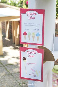 Nice Party: La fiesta de bienvenida al verano. Cumpleaños infantil. Puesto de Ikea personalizado. Tienda de chuches y helados para niños