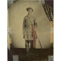 Unidentified soldier, C.S.A Ambrotype.  6.5 x 8.5 inches.