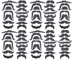 Mustache Galore.. fun to print out and use for family pictures!